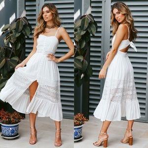 Hello Molly Summer In Monte Carlo Maxi Dress White